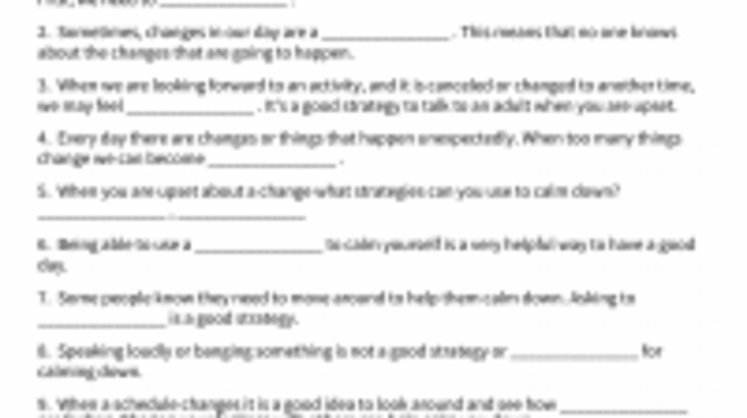 Interactive: Changes in Your Day
