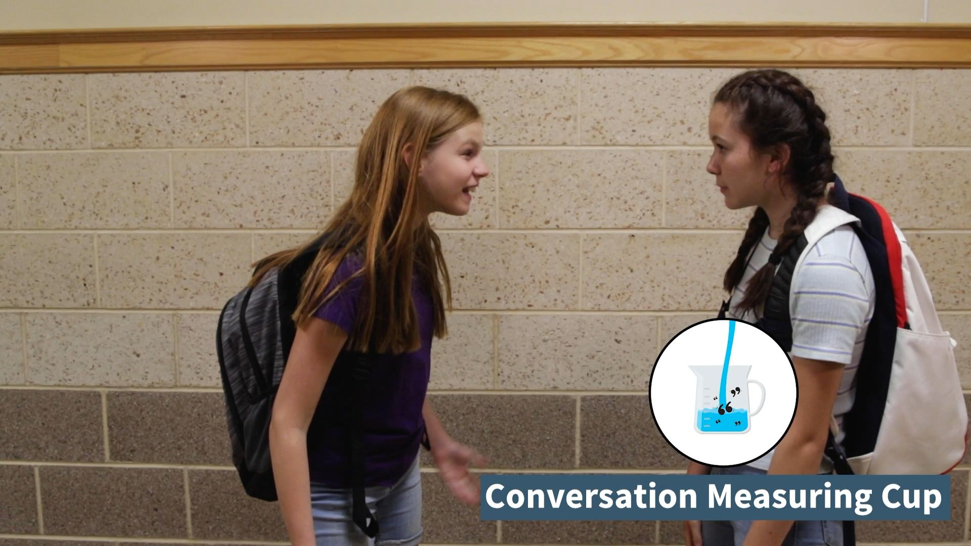 Two Sides - Conversation Measuring Cup