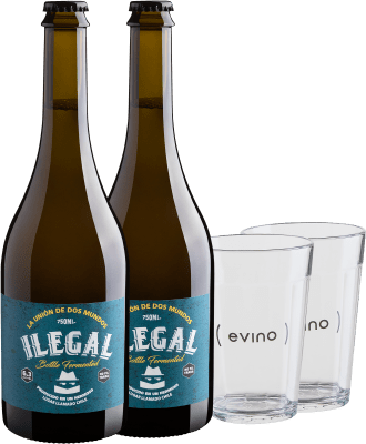 Botão para comprar cerveja de vinho maltado Ilegal Vinho Maltado + copos