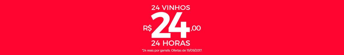 Vinhos a 24 reais (cada)