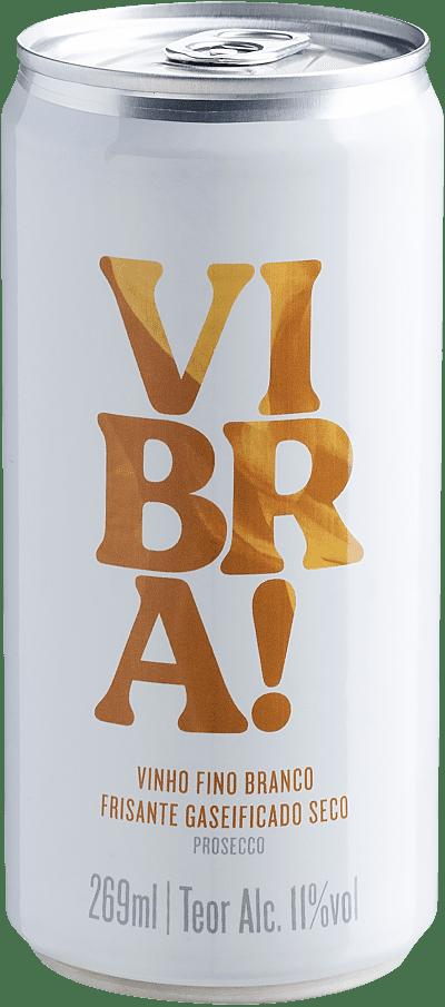 Vinho Espumante Branco - Vibra! Frisante - Vinho em Lata - Brasil