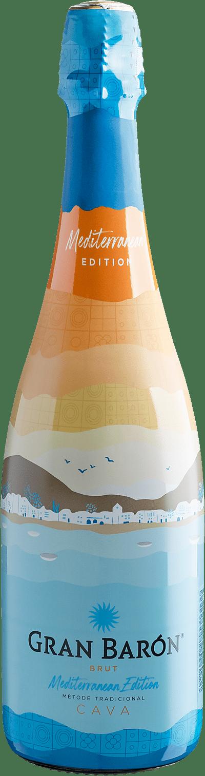 Vinho Espumante Branco - Cava Gran Barón Mediterranean Edition Brut - Espanha