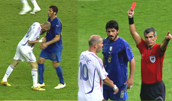 Super squad leader most red cards: Bewildered Zidane, Totti