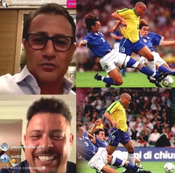 """Fat"" Ronaldo reunion with Cannavaro: Reminiscent the classic screen ""1 Fighting 2"""