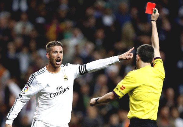 """King of the red card,"" Ramos 26 removals: Nightmares of superstars, Messi almost broken leg"