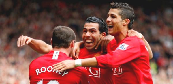 "MU divine ""Trio"" Rooney - Tevez - Ronaldo once ruled Europe"