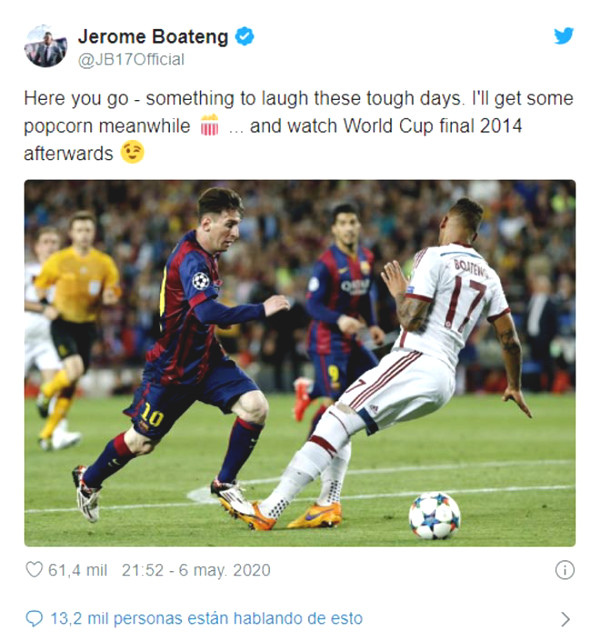 """Bayern star """"turned into clowns"""" by Messi responded in a unpredictably manner"""