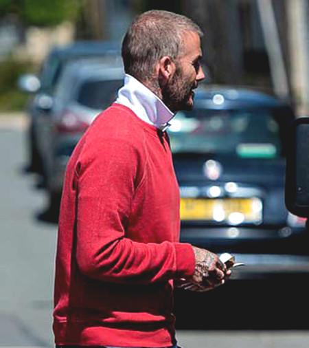 Beckham revealed shocking bald head,