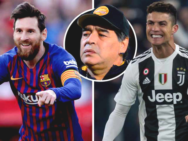 Bewildered with the common reason why Ronaldo cannot side with Messi Maradona