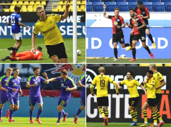 Bundesliga back: cry smile of SAO goal celebration