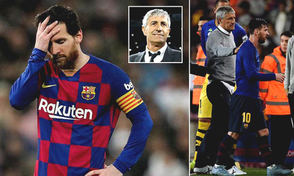 "Barca extreme heat: Coach Setien is not afraid of ""boss"" Messi, won dream of the C1 cup"