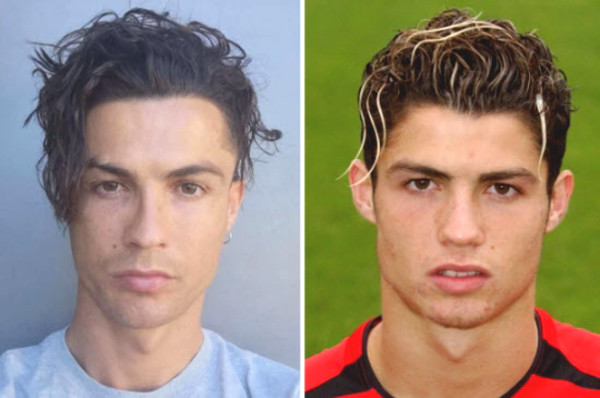 "Ronaldo showing off fancy floating hair, MU fans ""crazily"" remember the golden age"