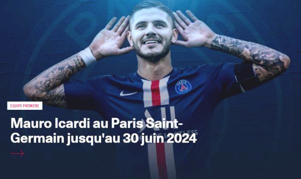 """Blockbuster"" of early summer 2020: PSG buyout Icardi, unexpected benefit for MU"