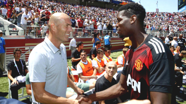 Real Madrid plotted to steal Pogba from Manchester United, having closed Zidane celebrated