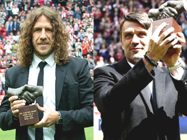 Giggs received the award for loyalty to United, Scholes & Neville were not