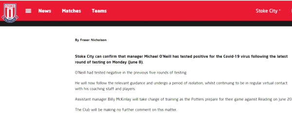 MU immediately canceled match with Stoke City for this reason