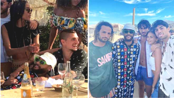 Neymar dressed as clown supermodel girlfriend, star aberration with PSG staging