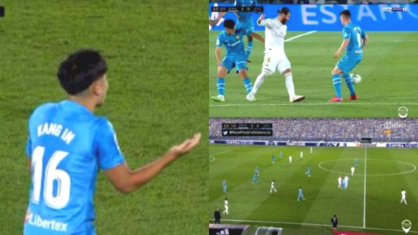 """Strike """"old fox"""" Ramos continuously, 19 years old Korean star got in a red card trap"""