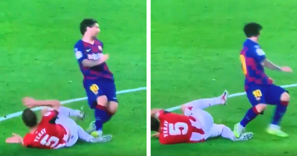 Stunning how Messi made 2 consecutive rough fouls but still no cards