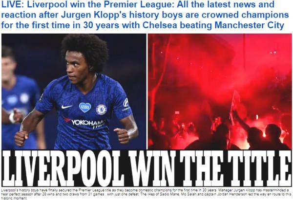Premier League champion Liverpool: Press acclamation