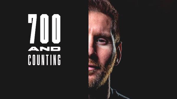 Messi broke 700 goals record