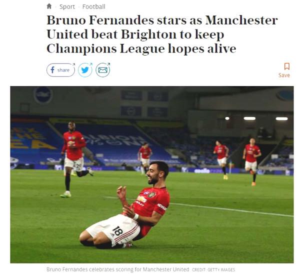 MU top 4 race victory: British newspapers put Bruno 9 points, praise