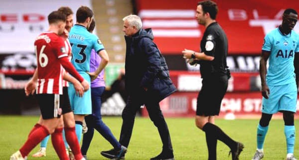 Tottenham lost to Sheffield, to both his bitter Mourinho referee and VAR