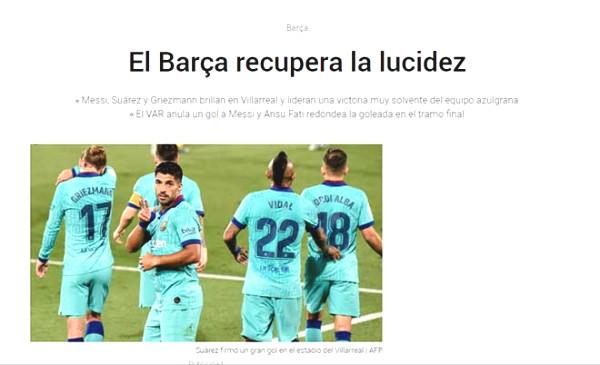 "Griezmann burst with Messi & Suarez: The press praised the initiative ""diamond"""