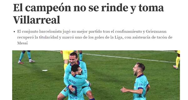 Griezmann burst with Messi & Suarez: The press praised the initiative