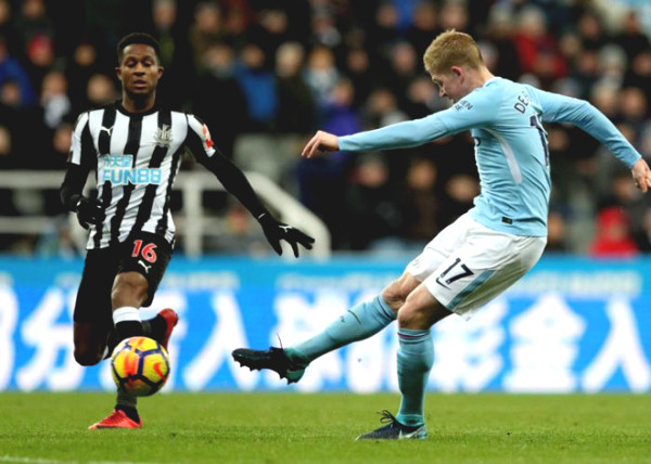 Direct football Manchester City - Newcastle: Finishing touche of Sterling (End of time)