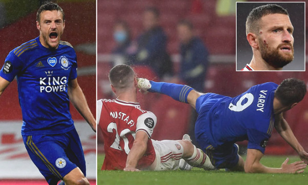 Football hot news 9/7: Foul at Arsenal star, Vardy still escapes punishment