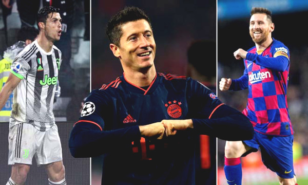 Ronaldo scored 5 goals/5 matches: Messi cried, Lewandowski worried about missing the golden shoe