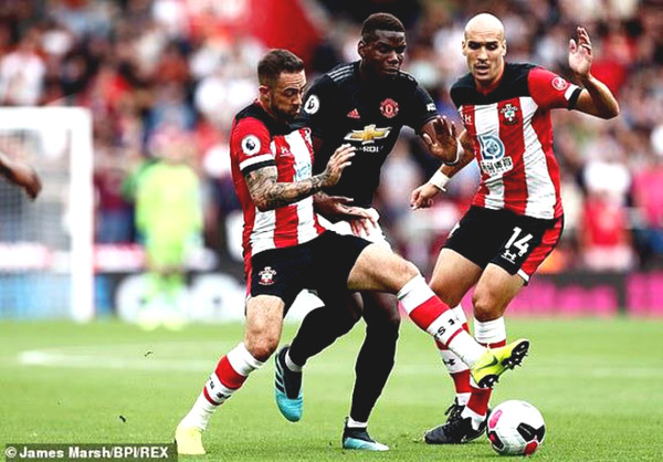 Verdict football MU - Southampton: Morning door top 3, vigilance