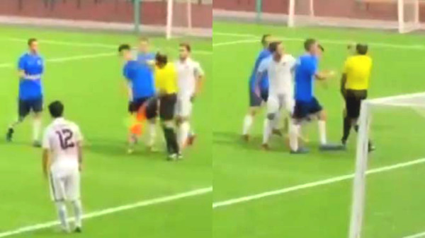 Russia referee punched player face like hooligan