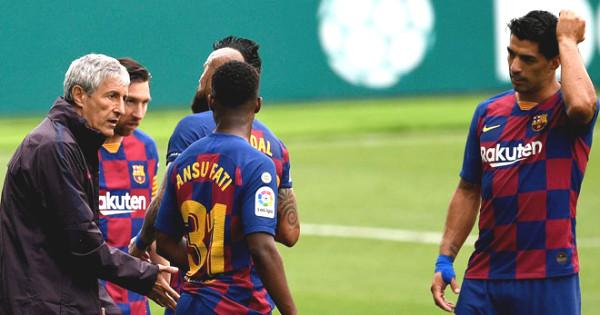 Barca have turned: Suarez criticized the home team less bravery, coach Setien