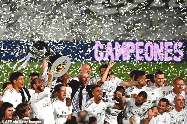 Real Madrid La Liga champions 34th: Brilliant Zidane and
