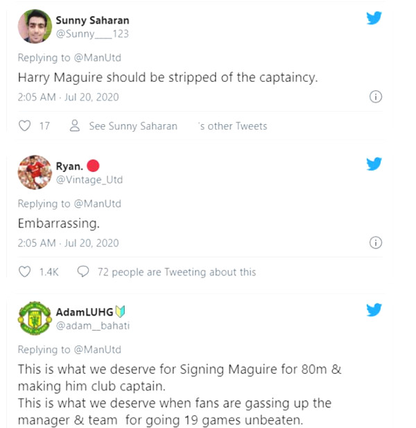 Maguire super bad: MU Fan angrily demanded deprivation armband