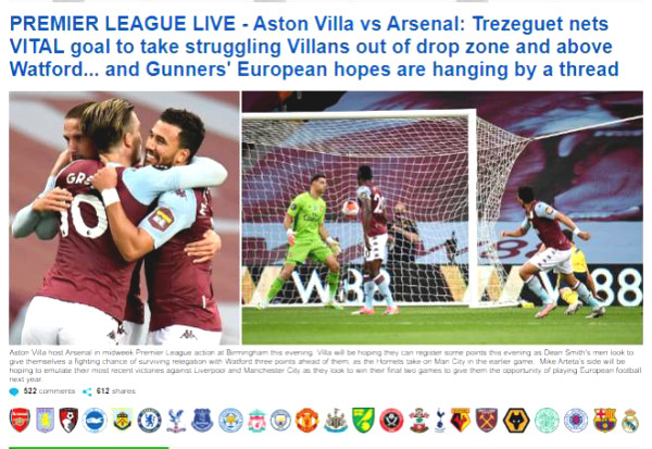 Arsenal lost in shock, worried British newspaper lost the FA Cup final note because