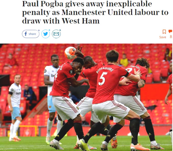 Manchester United narrowly missed the chance to Top 4 Premier League: Attack Journalism Pogba