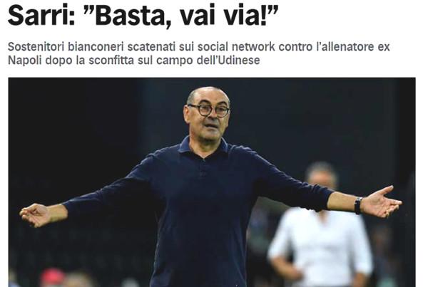 Juventus lost to shock: Sarri