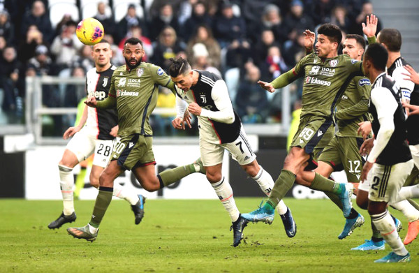 "Cagliari - Juventus Football match : Goals feast to celebrate ""the King"""