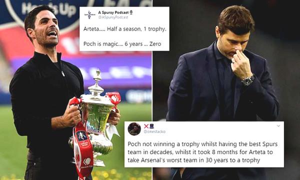Hot 3/8 football news: Champion of FA Cup, Arsenal fans sarcasm Tottenham