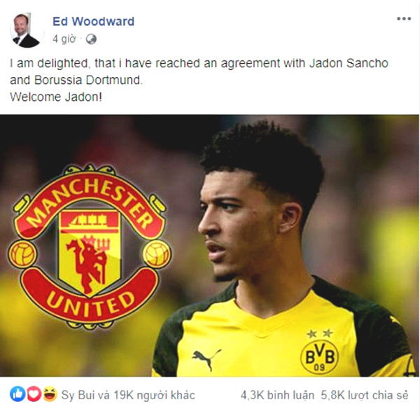 Blockbuster shaking Premiership: MU Sancho on record, confirming big boss?