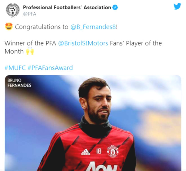 Bruno Fernandes, Prize of the Month, MU fans react unexpectedly