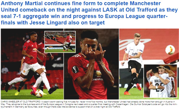 """United won 7-1 in the Europa League final: British newspapers have criticized them """"extremely harshly"""""""