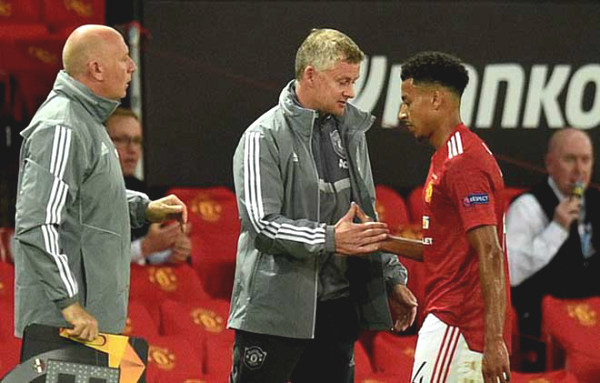 Lingard frustrating because both scored for Manchester United was substituted, Solskjaer voiced