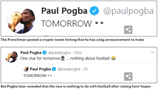 Pogba hinted a new contract, making fans MU shortfalls