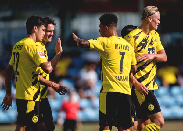 Dortmund won 6-0 at friendly match: Sancho appeared, Haaland scored a double