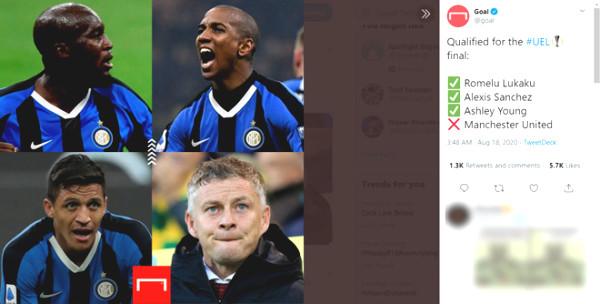 "Lukaku scored twice, Inter victory: Press ""trolled"" United and Solskjaer"