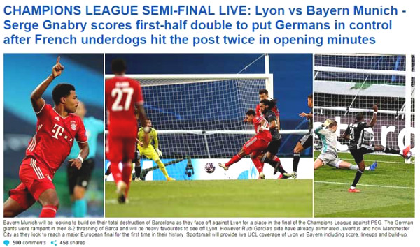 Bayern lower C1 Cup finalists Lyon: Newspapers still sorry for Lewandowski